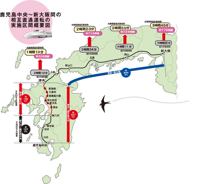 「九州新幹線 鹿児島ルート」の画像検索結果